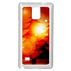 Tree Trees Silhouettes Silhouette Samsung Galaxy Note 4 Case (White)