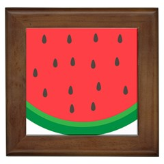 Watermelon Fruit Framed Tiles