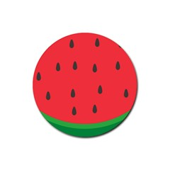 Watermelon Fruit Rubber Round Coaster (4 pack)
