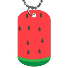 Watermelon Fruit Dog Tag (Two Sides)