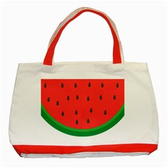 Watermelon Fruit Classic Tote Bag (Red)