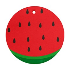 Watermelon Fruit Round Ornament (Two Sides)