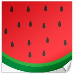 Watermelon Fruit Canvas 12  x 12