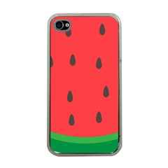 Watermelon Fruit Apple iPhone 4 Case (Clear)