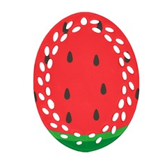 Watermelon Fruit Ornament (Oval Filigree)