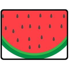Watermelon Fruit Double Sided Fleece Blanket (Large)
