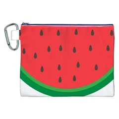 Watermelon Fruit Canvas Cosmetic Bag (XXL)