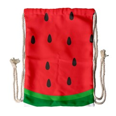 Watermelon Fruit Drawstring Bag (Large)