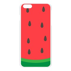 Watermelon Fruit Apple Seamless iPhone 6 Plus/6S Plus Case (Transparent)