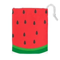 Watermelon Fruit Drawstring Pouches (Extra Large)