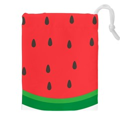 Watermelon Fruit Drawstring Pouches (XXL)
