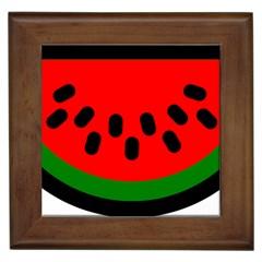 Watermelon Melon Seeds Produce Framed Tiles