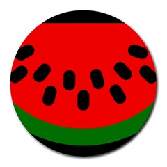 Watermelon Melon Seeds Produce Round Mousepads