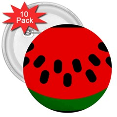 Watermelon Melon Seeds Produce 3  Buttons (10 pack)