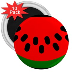 Watermelon Melon Seeds Produce 3  Magnets (10 pack)
