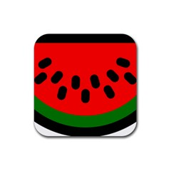 Watermelon Melon Seeds Produce Rubber Square Coaster (4 pack)
