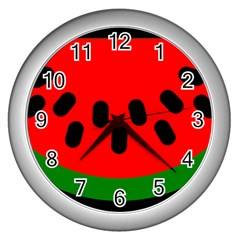 Watermelon Melon Seeds Produce Wall Clocks (Silver)