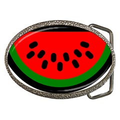 Watermelon Melon Seeds Produce Belt Buckles