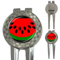Watermelon Melon Seeds Produce 3-in-1 Golf Divots