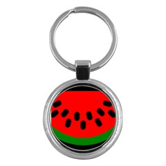 Watermelon Melon Seeds Produce Key Chains (Round)