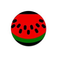 Watermelon Melon Seeds Produce Rubber Coaster (Round)