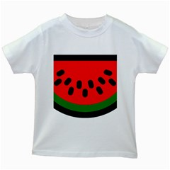 Watermelon Melon Seeds Produce Kids White T-Shirts