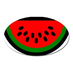 Watermelon Melon Seeds Produce Oval Magnet