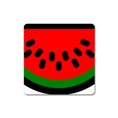 Watermelon Melon Seeds Produce Square Magnet