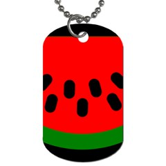 Watermelon Melon Seeds Produce Dog Tag (One Side)