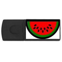 Watermelon Melon Seeds Produce USB Flash Drive Rectangular (2 GB)