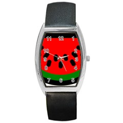 Watermelon Melon Seeds Produce Barrel Style Metal Watch