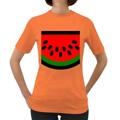 Watermelon Melon Seeds Produce Women s Dark T-Shirt