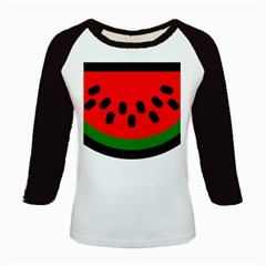 Watermelon Melon Seeds Produce Kids Baseball Jerseys