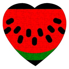 Watermelon Melon Seeds Produce Jigsaw Puzzle (Heart)