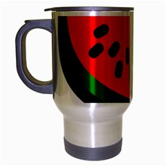 Watermelon Melon Seeds Produce Travel Mug (Silver Gray)