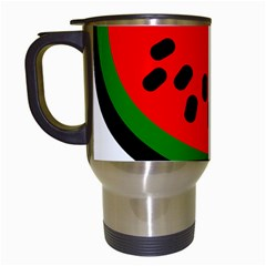 Watermelon Melon Seeds Produce Travel Mugs (White)