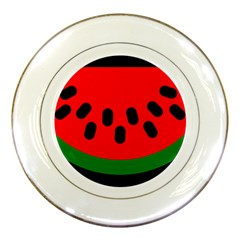 Watermelon Melon Seeds Produce Porcelain Plates