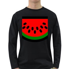 Watermelon Melon Seeds Produce Long Sleeve Dark T-Shirts