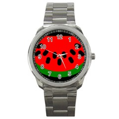 Watermelon Melon Seeds Produce Sport Metal Watch