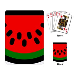 Watermelon Melon Seeds Produce Playing Card