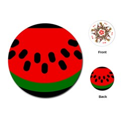 Watermelon Melon Seeds Produce Playing Cards (Round)