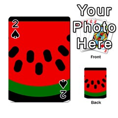 Watermelon Melon Seeds Produce Playing Cards 54 Designs
