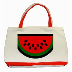 Watermelon Melon Seeds Produce Classic Tote Bag (Red)