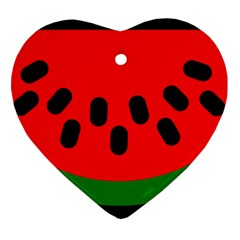 Watermelon Melon Seeds Produce Heart Ornament (2 Sides)