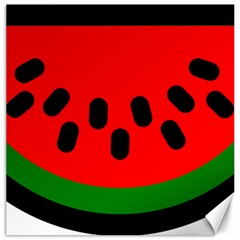 Watermelon Melon Seeds Produce Canvas 12  x 12