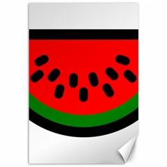 Watermelon Melon Seeds Produce Canvas 12  x 18