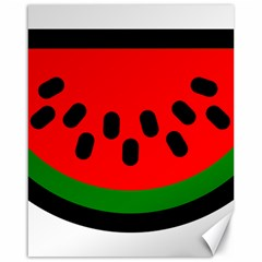 Watermelon Melon Seeds Produce Canvas 16  x 20
