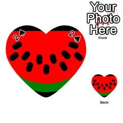 Watermelon Melon Seeds Produce Playing Cards 54 (Heart)