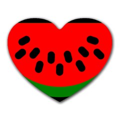 Watermelon Melon Seeds Produce Heart Mousepads