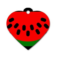 Watermelon Melon Seeds Produce Dog Tag Heart (One Side)